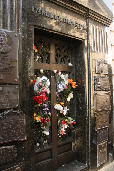 Family Duarte's family mausoleum, where Eva Peron is buried.